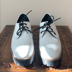 Shellys London White Patent Leather Shoes